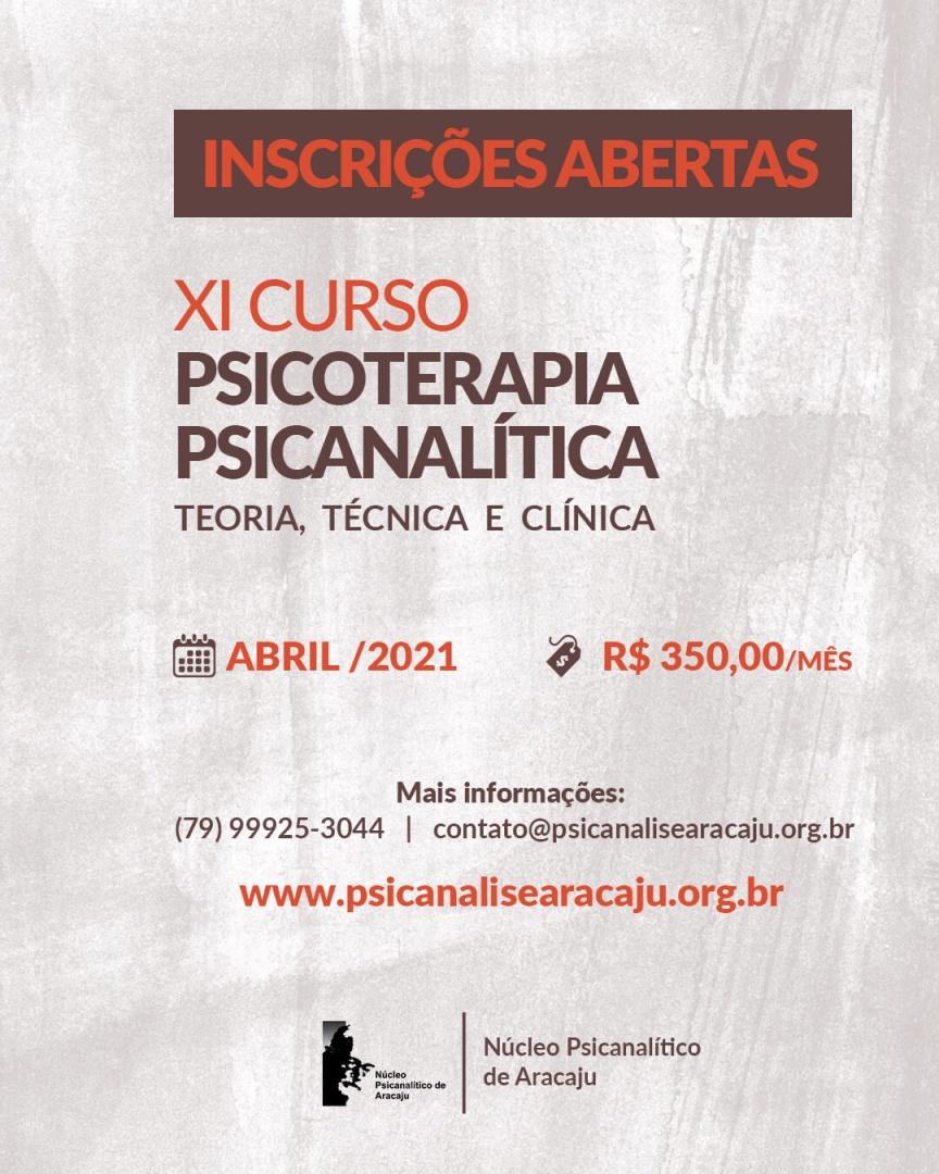 XI CURSO DE PSICOTERAPIA PSICANALÍTICA