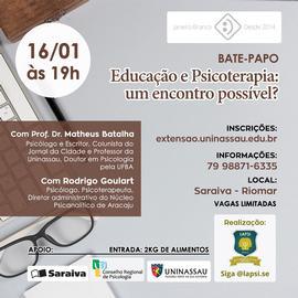 Educação e Psicoterapia - Um encontro Possível?