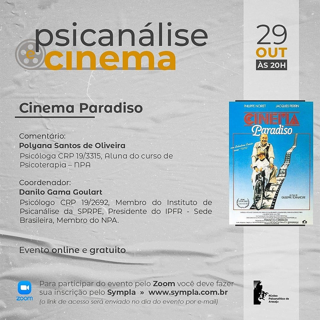 psicanalise e cinema; cinema paradiso